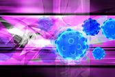 Digitální ilustrace bakterií v barvu pozadí