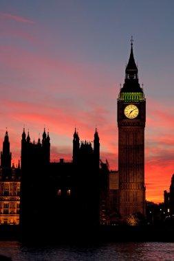 Famous Big Ben clock tower in London, UK. stock vector