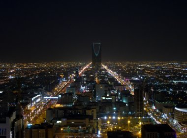 Night view of Riyadh