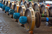 Photo Spare railway wheels
