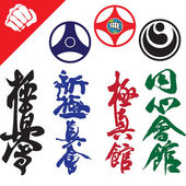 Photo Martial Arts. Big set Symbols.