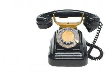 Vintage phone with disc dials