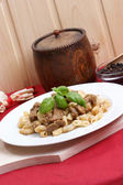 Noodle and organic goulash