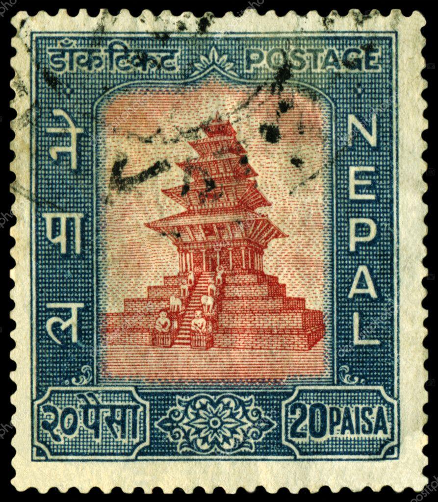 depositphotos 2920889 Vintage postage stamp. Post. Nepal