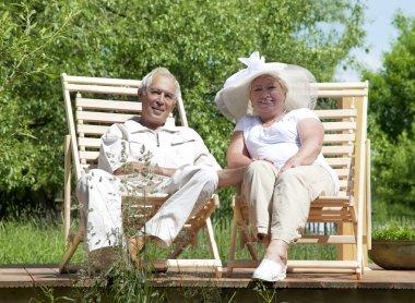 Senior loving couple