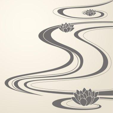 Elegant background with Oriental waves