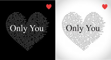 Typographic heart greeting card