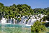 Fotografie vodopád v národním parku krka v Chorvatsku