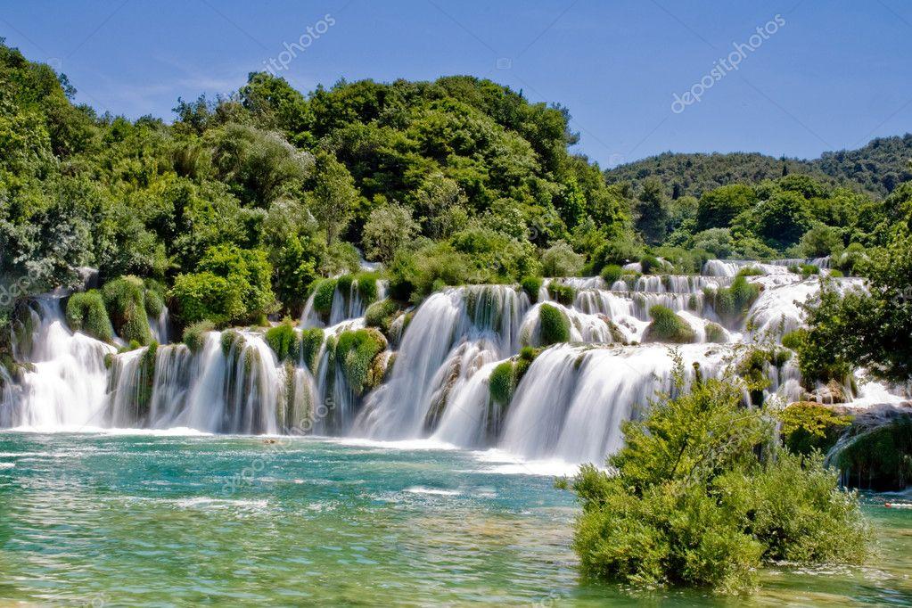 Фотообои Waterfall in Krka national park in Croatia