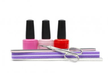 Nail care and polish. Manicure or pedicure background