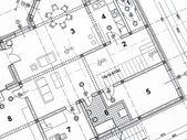 Closeup architektonického projektu