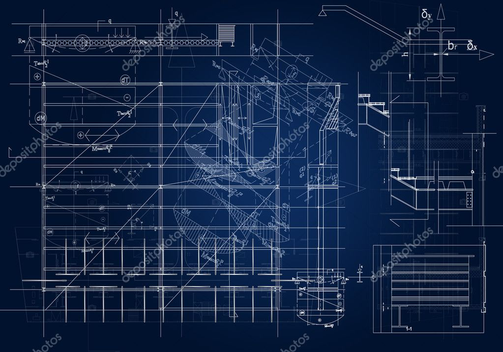 Architectural blueprint stock photo hitdelight 3827918 for Blueprint architects