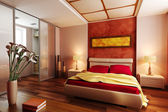 Photo Modern style bedroom interior 3d