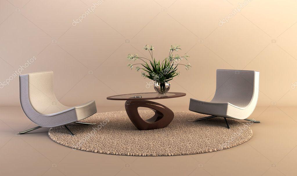 Moderne stijl lounge kamer u stockfoto auriso