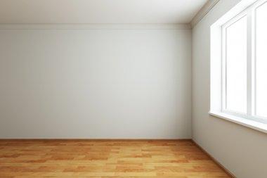 3d rendering the empty room with window stock vector