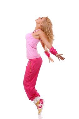Jumping female dancer