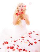 Fényképek nevetve a gyönyörű menyasszony
