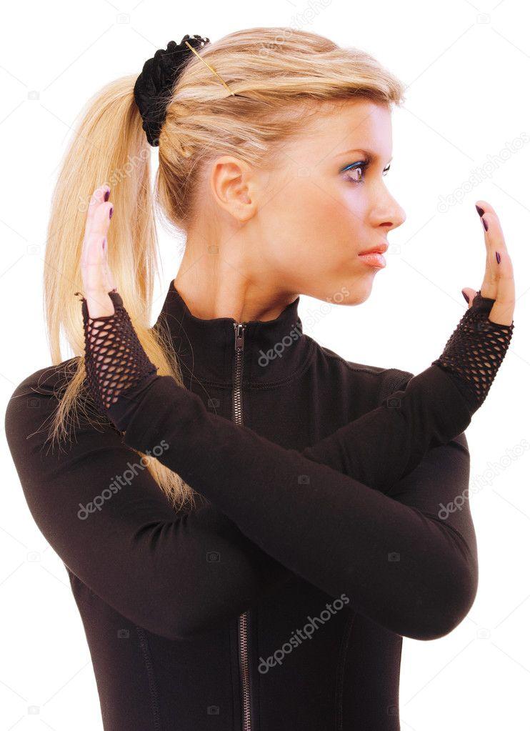 фото девушки с хвостиком