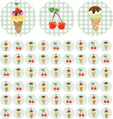 Bright color background with ice-cream