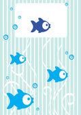 řízení pozadí s rybami a místo pro text