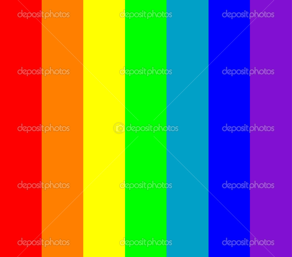 seven rainbow colors background stock vector