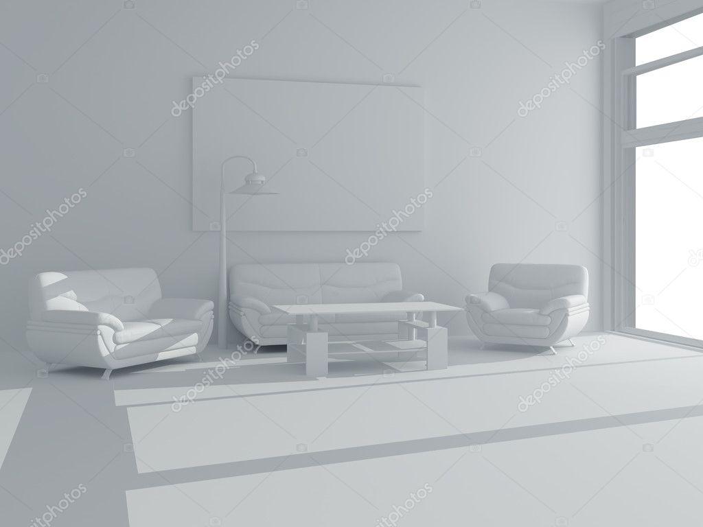 Weiße Möbel In Einem Weißen Raum Stockfoto Rook76 3118307