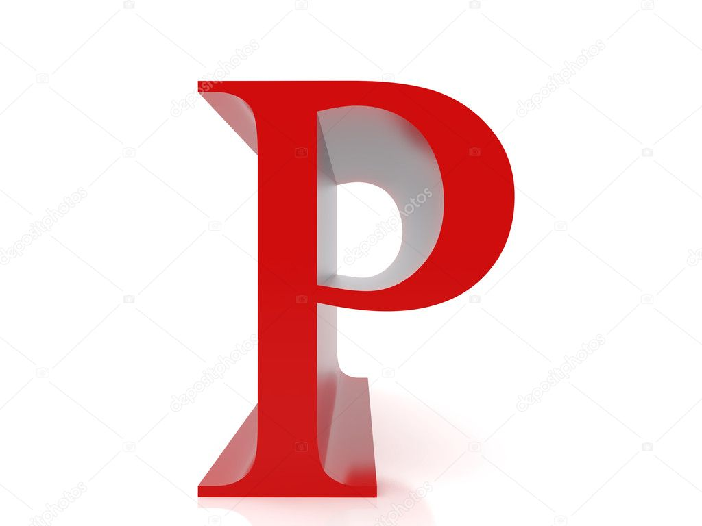 3d Illustration Over White Backgrounds High Resolution Image Letter P Photo By Rook76