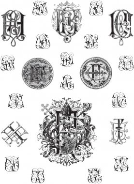 Monogram set three