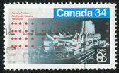 Stamp printed by Canada