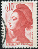 Stamp printed by France