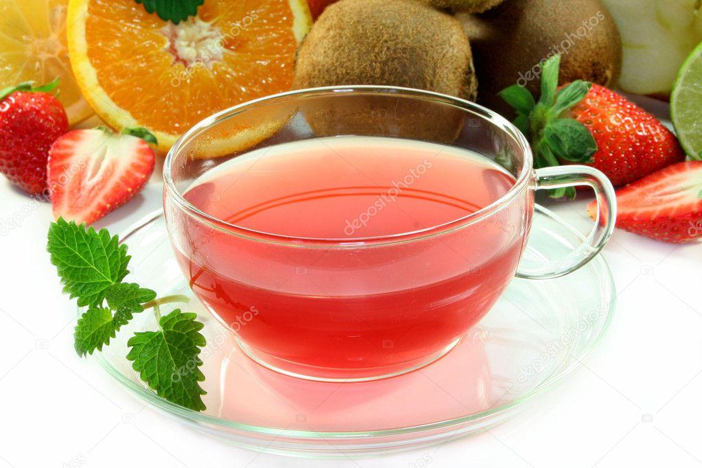 Чай из свежих фруктов