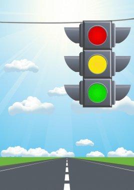 Traffic light in the sky