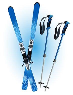 Ski and ski sticks