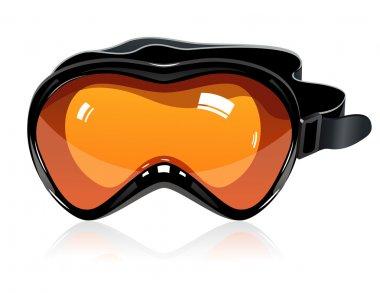 Orange ski mask