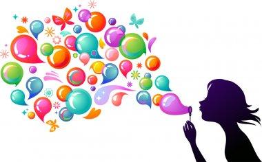 Blowing soap bubbles - 2
