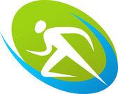 Fotografia Icona del corridore / logo