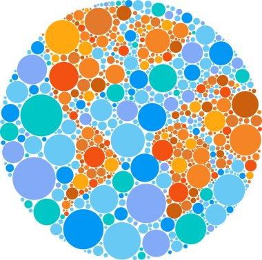 Colorful circle globe