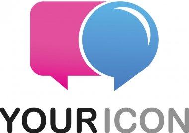 Callout shape icon - logo