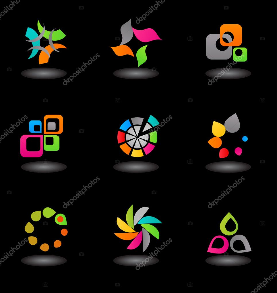 Abstract icon set - 11