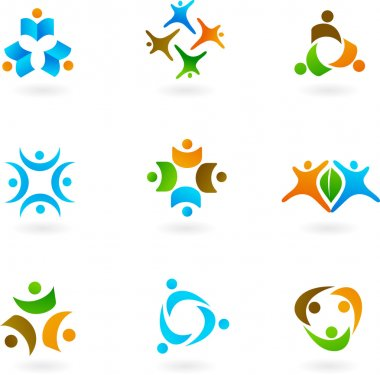 Human icons and logos 1