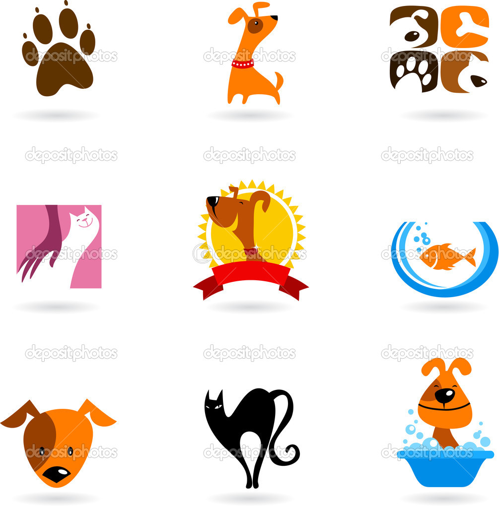 Pet icons and logos