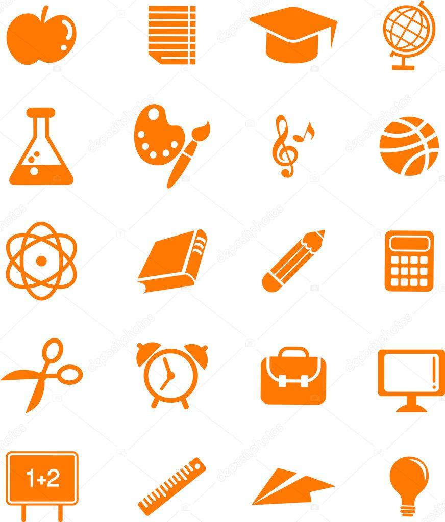 Huge education icon set