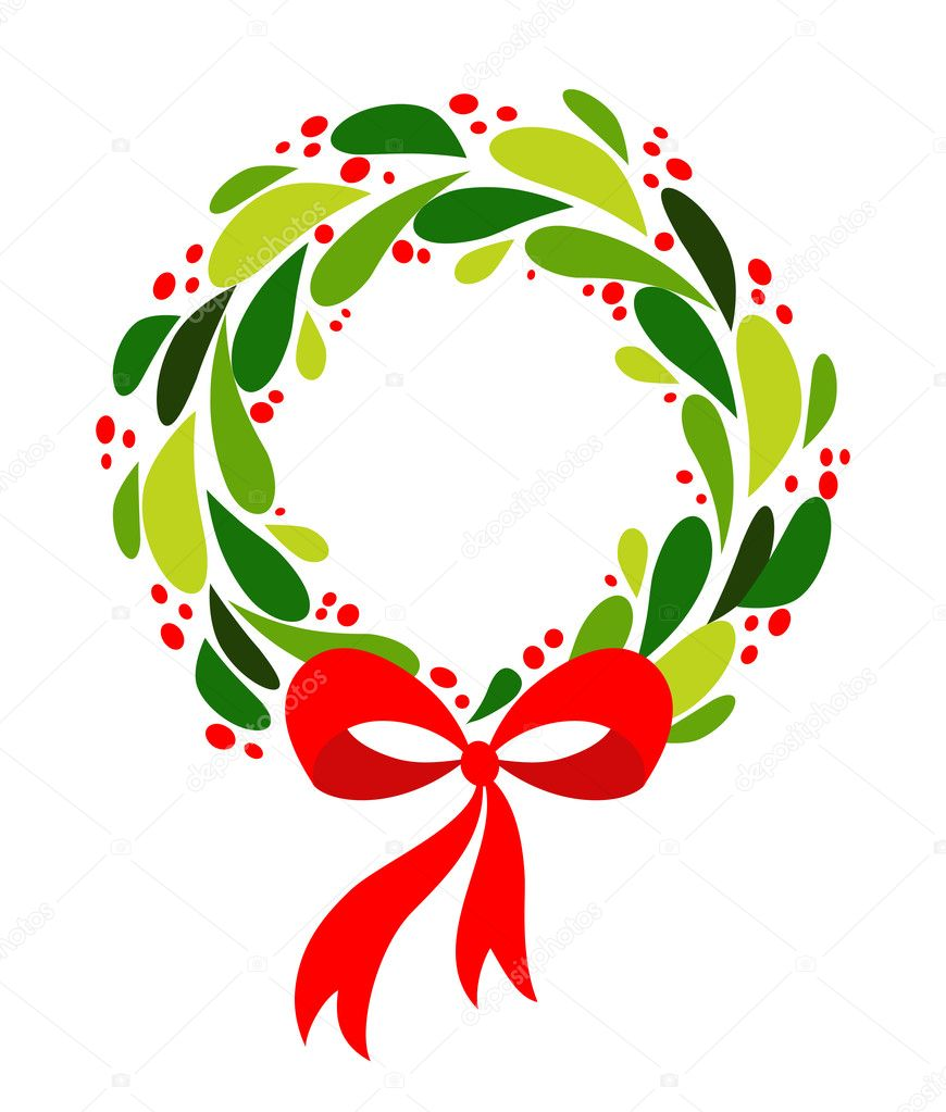 Drawings Of Christmas Wreaths.ᐈ Of Christmas Wreaths Stock Drawings Royalty Free