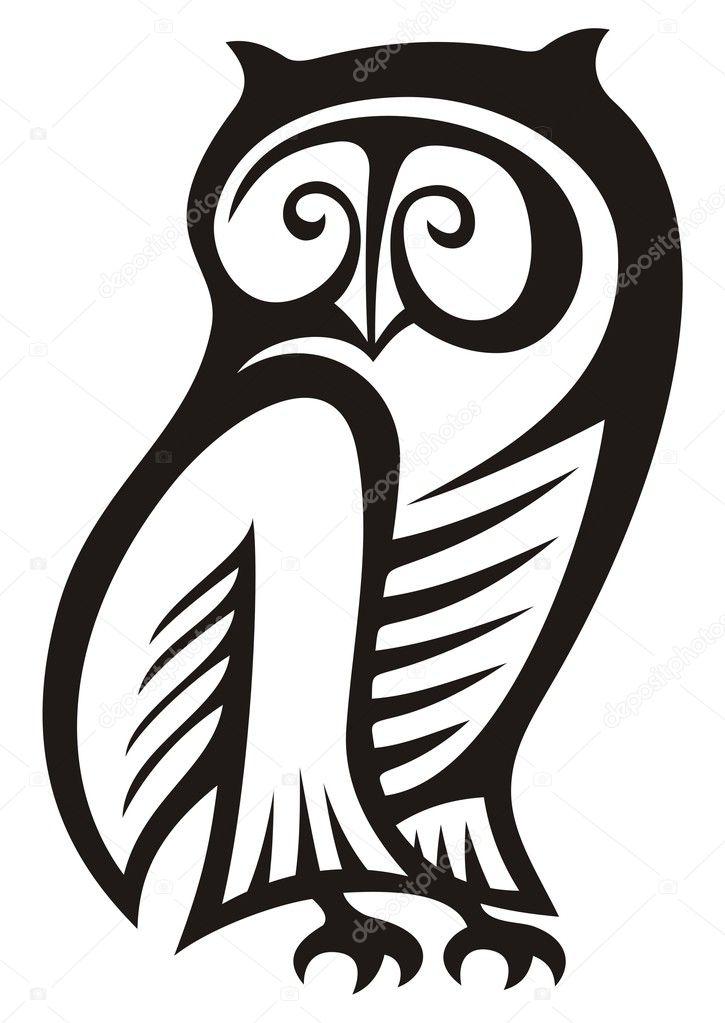 La Chouette Symbole symbole de la chouette — image vectorielle fractal © #3805460