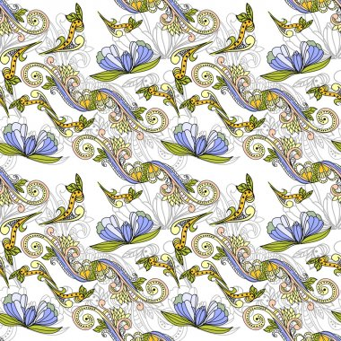 Seamless pattern with floral element