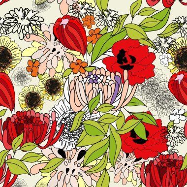 Colorful summer seamless pattern
