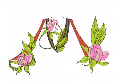 Floral font 2. Letter M