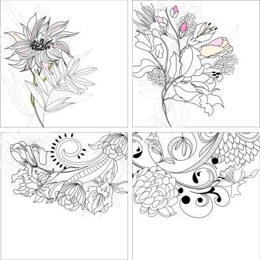 Set 9, floral background