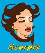 Ženská tvář krásu Scorpio Horoskop zvěrokruhu seria