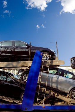 New cars going to car dealers